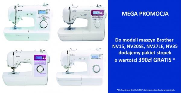 MEGA PROMOCJA – super zestawy stopek do wybranych modeli maszyn Brother NV15, NV20LE, NV27SE, NV35